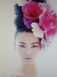 Extreme floral headpiece grabs my attention every time…and so do all the flowers of Spring!